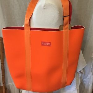 Fitkicks Reversible Every Day Tote Bag, Orange/Red